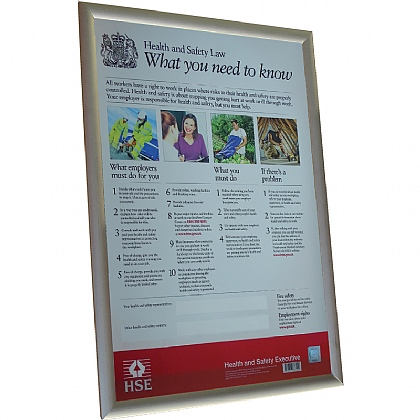 Health and Safety Law Poster - A2 format
