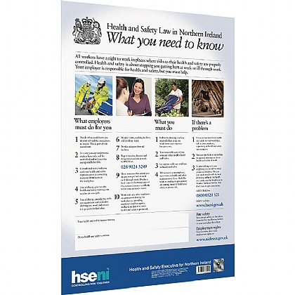 Health and Safety Law Poster for Northern Ireland (NI), A2 Poster