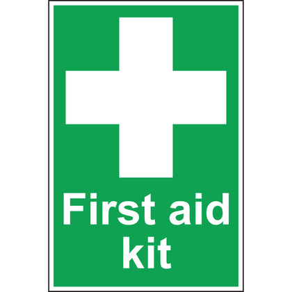 First Aid Kit Sign, 20x30cm, Rigid