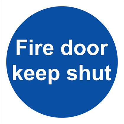 Fire Door Keep Shut Sign, 10x10cm, Rigid