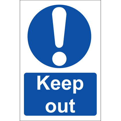 Keep Out! Sign, Rigid, 20x30cm