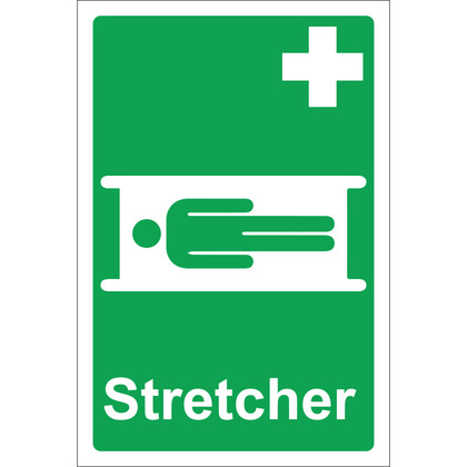 Stretcher Sign, Rigid 20x30cm