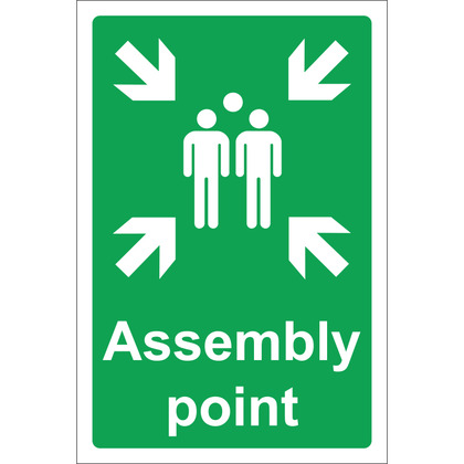 Assembly Point Sign, Rigid , 20x30cm