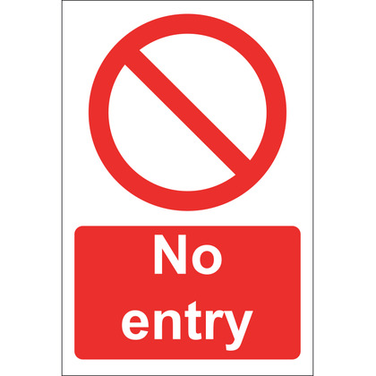 No Entry Sign, Rigid 20x30cm