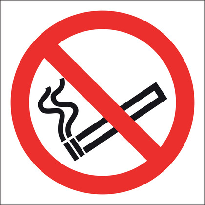 No Smoking Sign, Vinyl 10x10cm