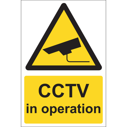 CCTV In Operation Sign, Rigid, 20x30cm