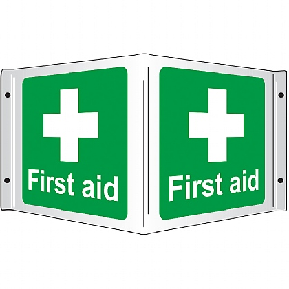 First Aid 3D Projecting Sign, Rigid, 35x20cm
