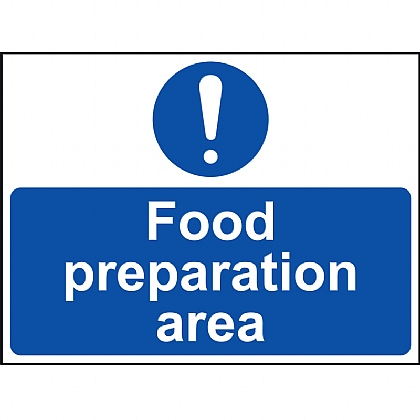 'Food Preparation Area' Vinyl Sign 20x15cm
