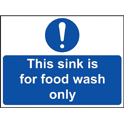 'This Sink for Food Wash Only' Vinyl Sign 20x15cm