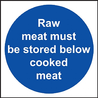 Raw Meat Must Be Stored Below Cooked Meat Vinyl 10x10c