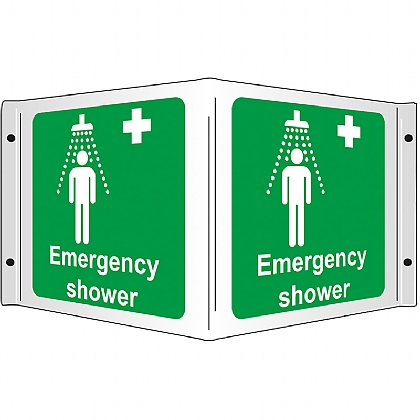 Emergency Shower 3D Projecting Sign