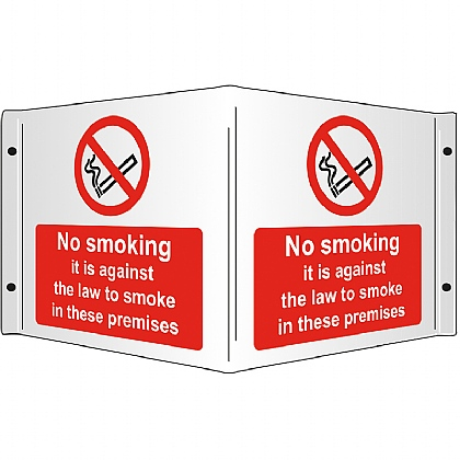 No Smoking Rigid 3D Projecting Sign 43x20cm