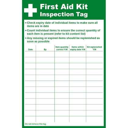 Inspection Tags Safety Awareness Safety Supplies First