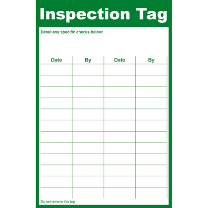 General Inspection Tag