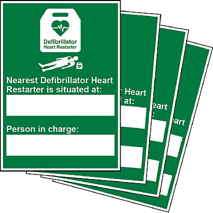 Nearest AED and Person in Charge Updateable Sign A5